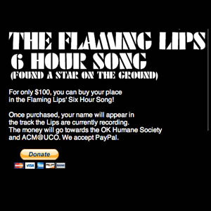 Get Your Name in the Flaming Lips' Six-Hour Song