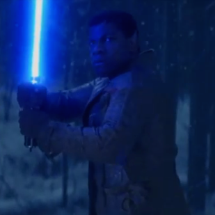 New Video of <i>The Force Awakens</i> Shows Finn Wielding a Lightsaber
