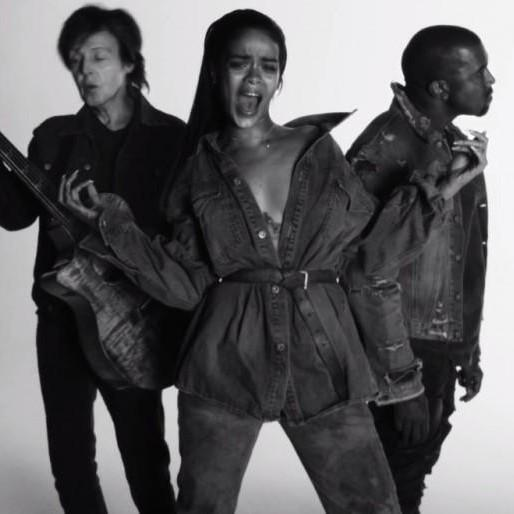 "Watch the ""FourFiveSeconds"" Video with Rihanna, Kanye and McCartney"