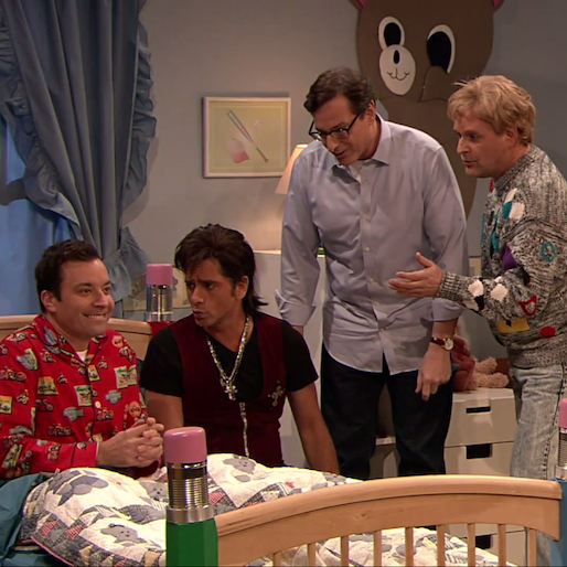 <i>Full House</i> Guys Reunite to Help Jimmy Fallon