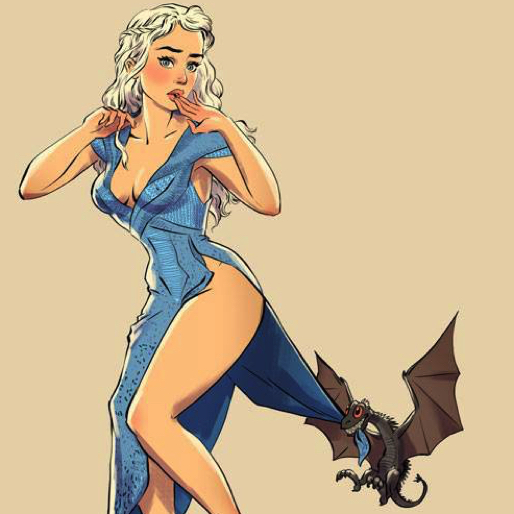 Artist's Series Depicts <i>Game of Thrones</i> Characters Drawn as Pin-Up Girls