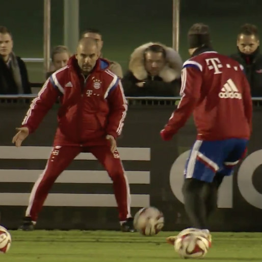 Pep Guardiola Trains with Bayern Munich Players
