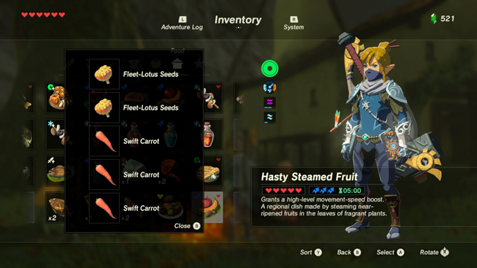 The 10 best recipes in zelda breath of the wild games lists movement speed updateg forumfinder Images