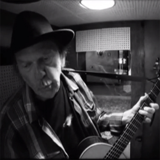 "Watch Neil Young Sing ""Needle Of Death"" From Jack White-Produced <i>A Letter Home</i>"