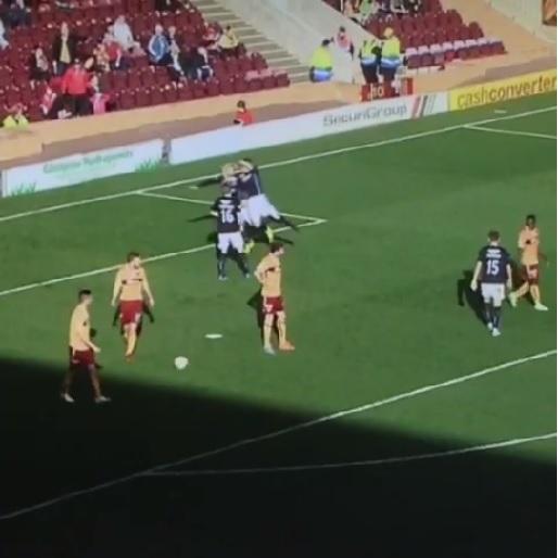 Scottish Soccer Player's RKO Celebration
