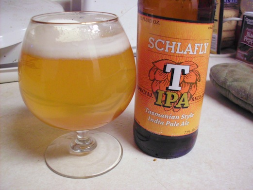 Schlafly Brewing's Tasmanian IPA Review--Get It While You Can