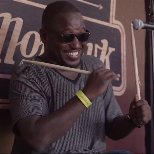 Hannibal Buress Plays the Drums For Speedy Ortiz at SXSW