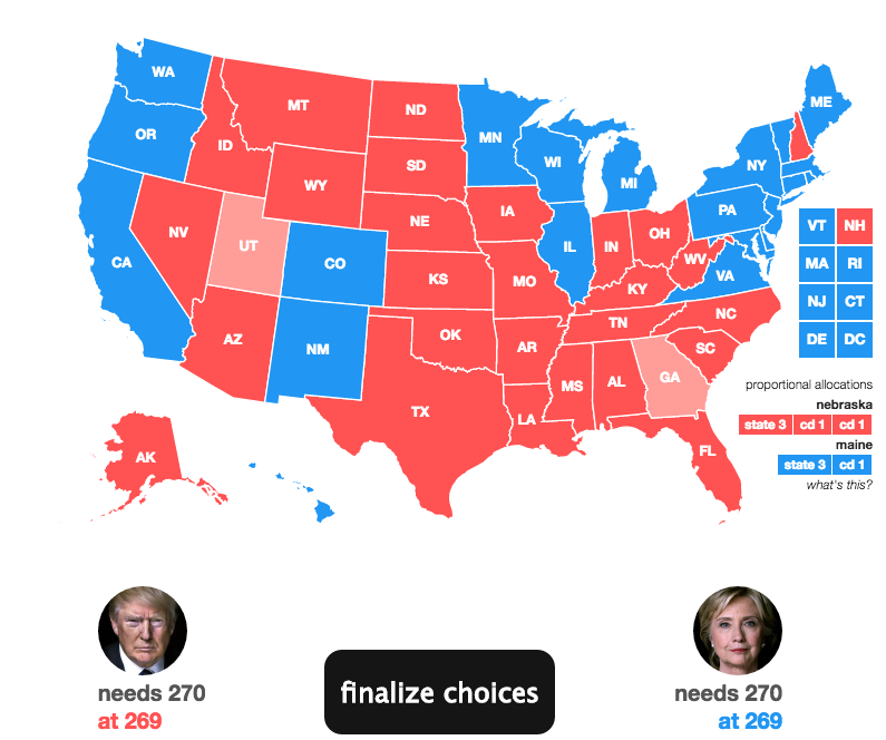 Trump Won States Map.New Polls Trump Leads In Ohio Tied In Florida Politics News