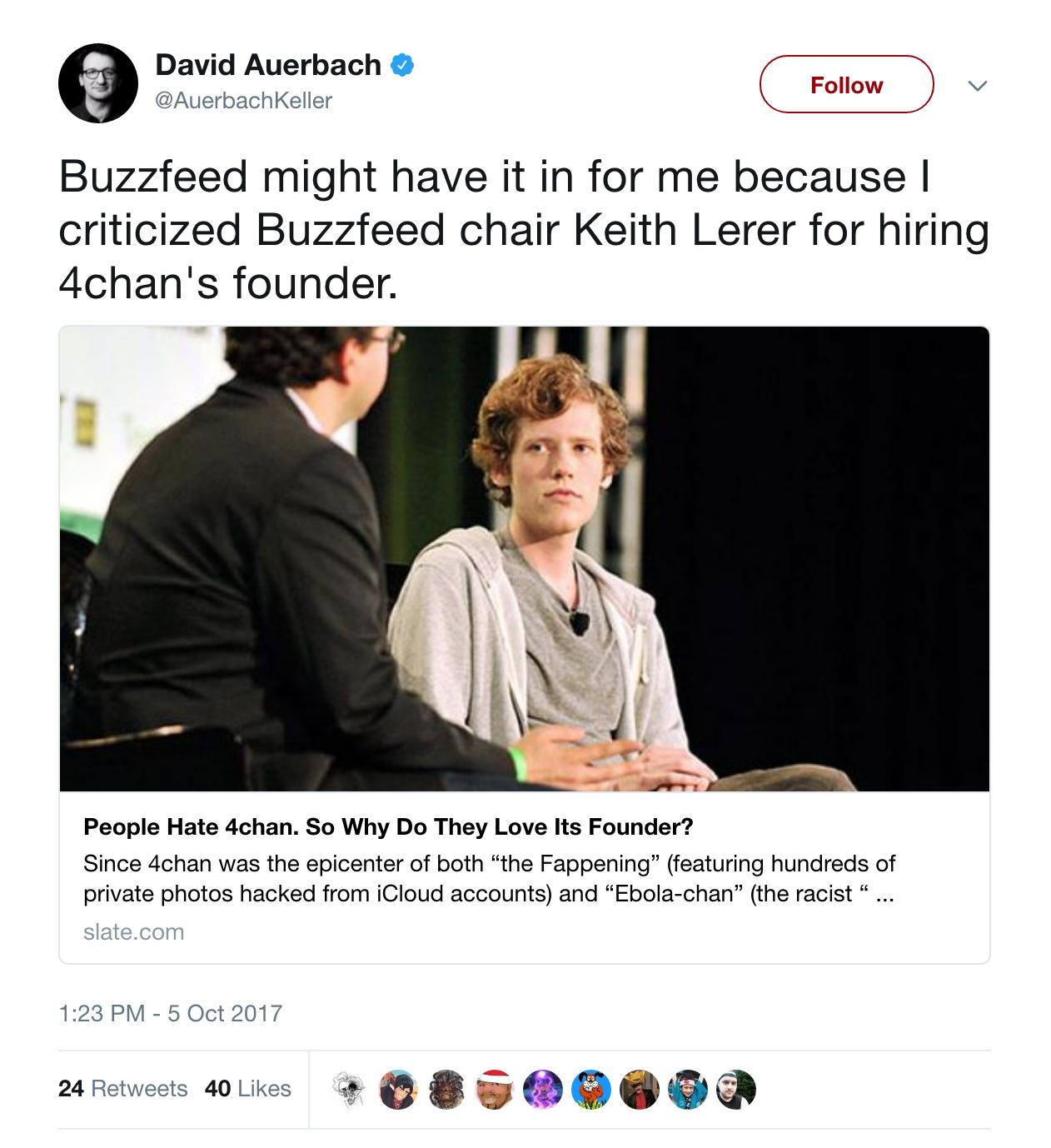 Former Slate Writer David Auerbach, Alleged Breitbart