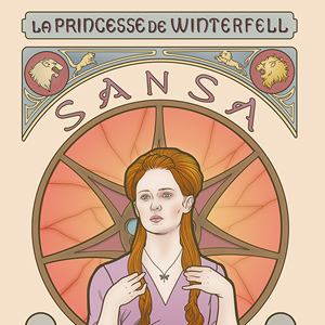 <i>Game of Thrones</i> Characters Depicted in Art Nouveau Style