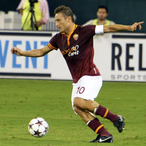 Watch Francesco Totti Become the Champions League's Oldest Goalscorer