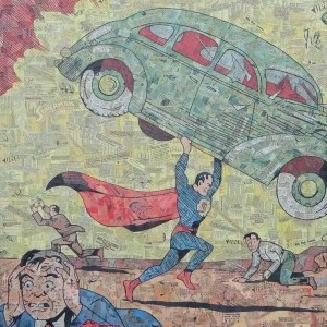 Artist Commemorates Superman's 75th Anniversary with Giant Collage