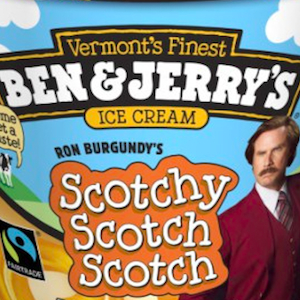 """<i>Anchorman 2</i> Promotion Chugs Along with New Trailer, """"Scotchy Scotch"""" Ice Cream Flavor"""