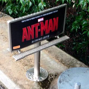 Bug-sized Billboards Appearing in Public Places for <i>Ant-Man</i> Promotion