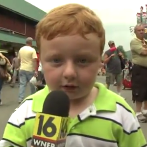 "Watch a 5-Year-Old ""Apparently"" Nail His Live Television Debut"
