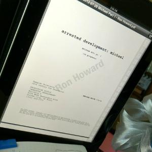 Ron Howard Tweets Photo of <i>Arrested Development</i> Script