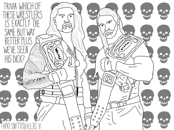 Wwe seth rollins coloring pages coloring pages for Wwe coloring pages 2015