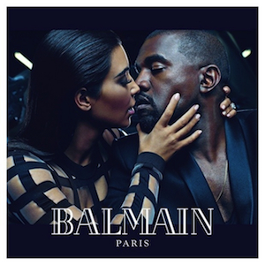 Kim and Kanye Are the New Face of Balmain