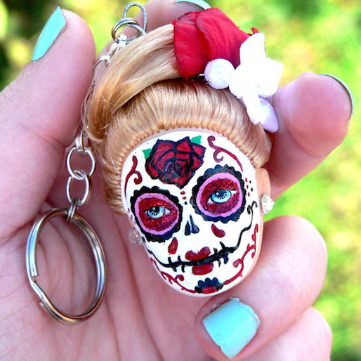 Etsy Crafter Preps Barbie for Dia de los Muertos