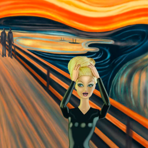 If Barbie Were The Face of The World's Most Famous Paintings