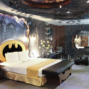 Live Out Your Bruce Wayne Fantasies in this <i>Batman</i>-themed Motel Room
