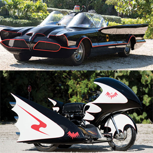 1966 Batmobile and Batcycle Up for Auction