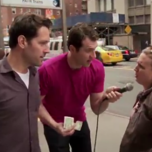 Watch Billy Eichner and Paul Rudd Ask Random New Yorkers If They'd Have Sex with Paul Rudd