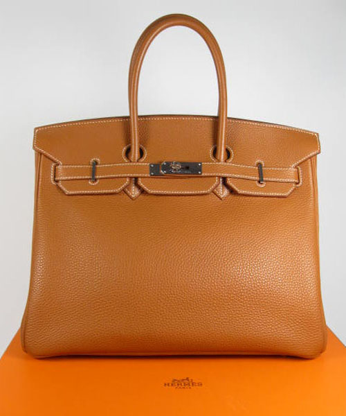brown hermes bag with clasp