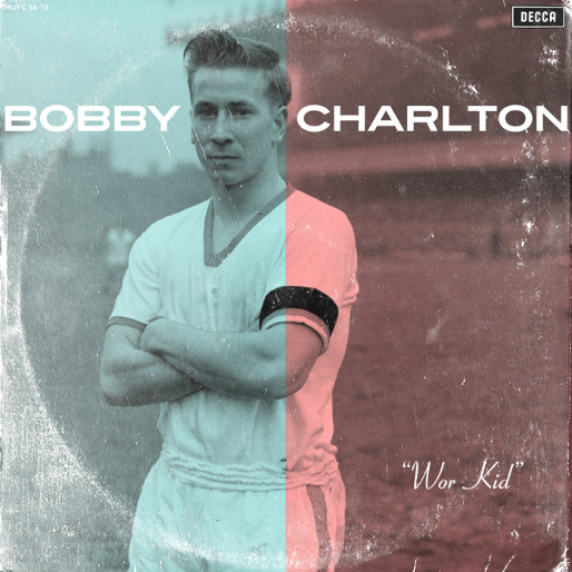 24 Legendary Soccer Players as Vinyl LP Covers