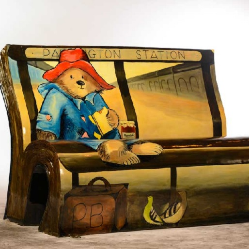 """""""Books About Town"""" Transforms Benches Into Literary Art"""
