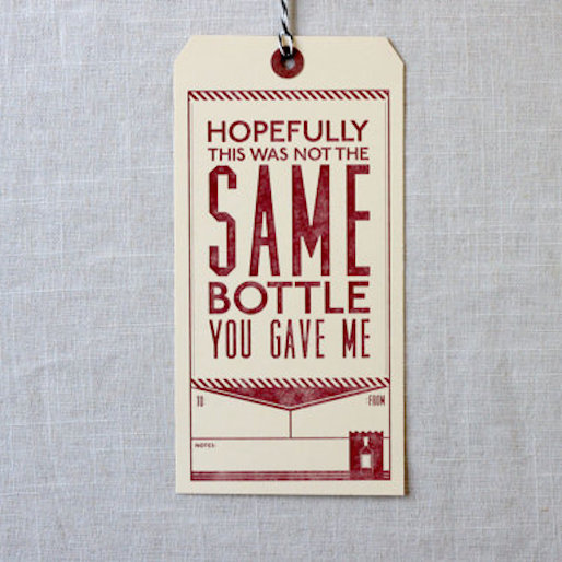 Give the Gift of Drink with These Witty Booze Tags