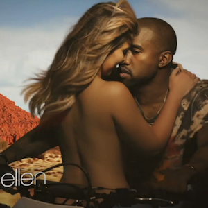 """Kanye West Debuts """"Bound 2"""" Music Video on <i>Ellen</i>"""