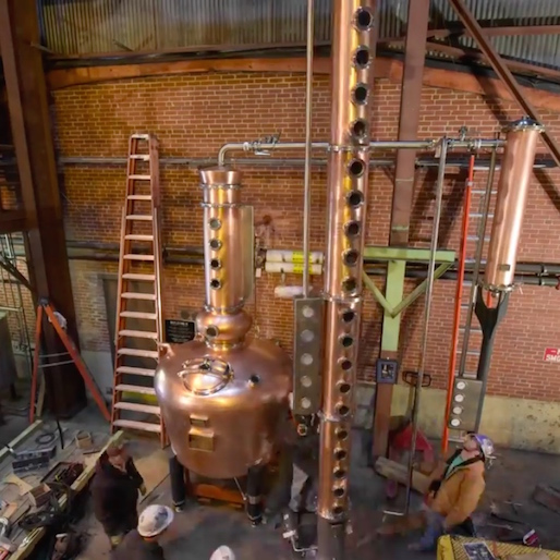 Whiskey Porn: Copper Still Constructed in 2 Minutes