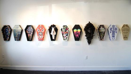 Caskets Made Into Pieces of Art