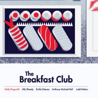 Big Eye Agency Releases Minimalist Posters in Honor of <i>The Breakfast Club</i>'s 30th Anniversary