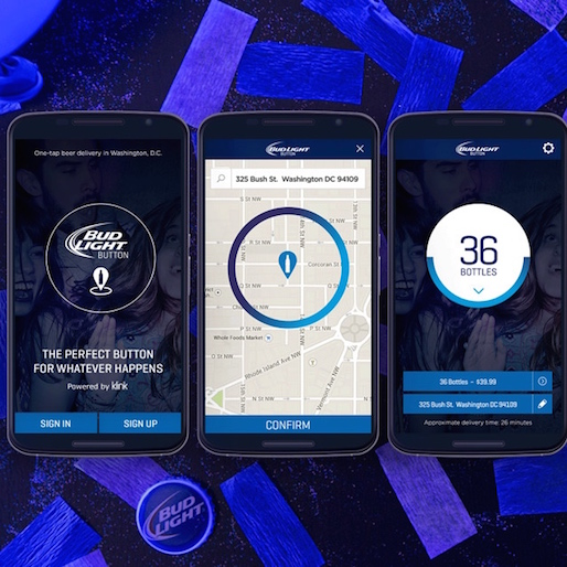 New Bud Light Button Delivers Beer To Your Door