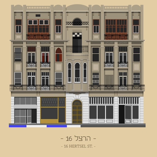 Tel Aviv Building Facades Get Graphic on TLV Buildings