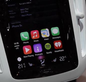Watch This Video of CarPlay Being Used in a Volvo Concept Car