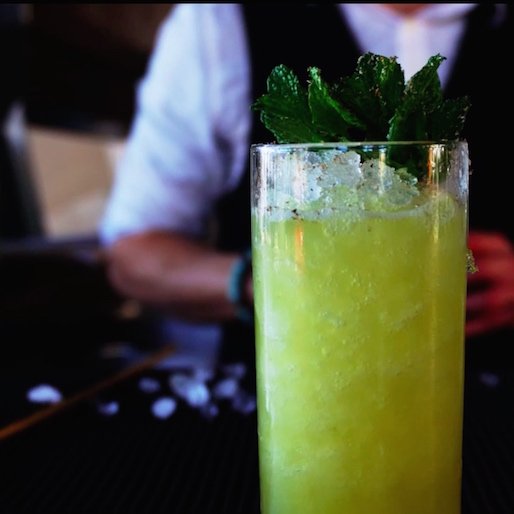 How to Make a Chartreuse Swizzle: A Video Tutorial