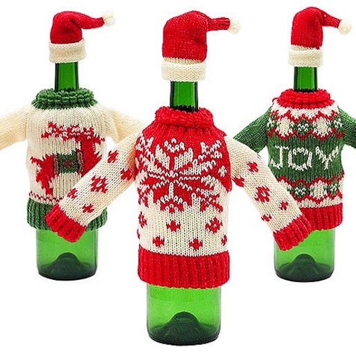 10 Ugly Christmas Sweaters For Your Liquor Bottle