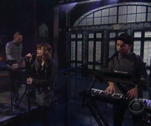 Chvrches Appear on Letterman, Announce Tour