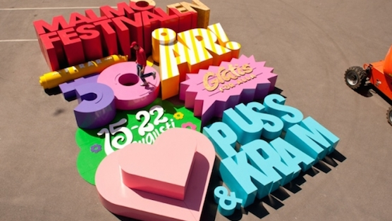 Sweden Designs Interactive Summer Festival Poster