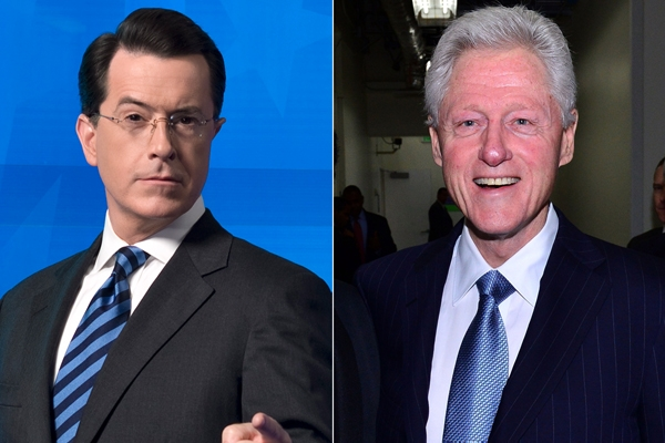 Stephen Colbert to Interview Bill Clinton