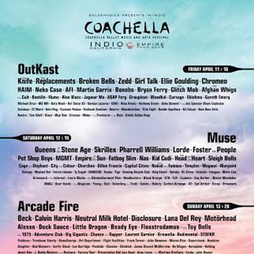 Coachella Announces 2014 Lineup