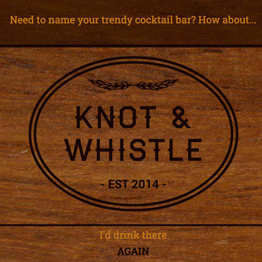 """What Should I Name My Trendy Cocktail Bar?"""