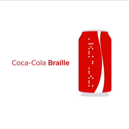 Coca-Cola Introduces Line of Braille Cans