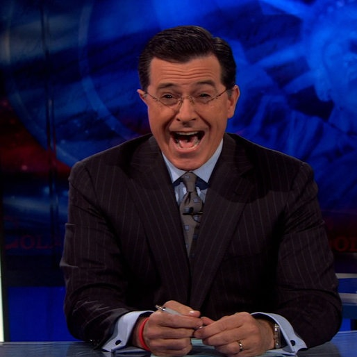 James Franco Almost Gets Colbert to Break Character...Almost