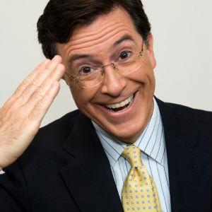 Stephen Colbert Drops Character for <i>Letterman</i> Appearance