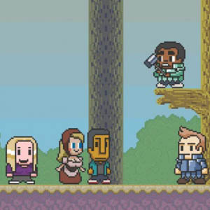 Watch a 16-Bit <i>Community</i> Cast Join the Gaming World
