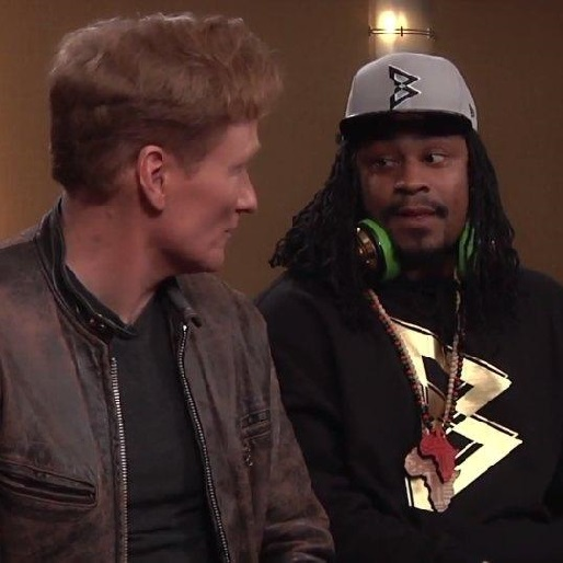 Marshawn Lynch and Rob Gronkowski Play Mortal Kombat X With Conan